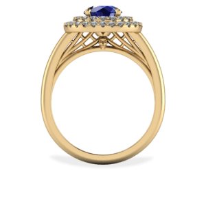 "<a href=""/book-now-bespoke-ring?context=	414-yellow-gold-sapphire-and-diamond-double-halo-ring	"">	</a>	Yellow gold sapphire and diamond double halo ring"