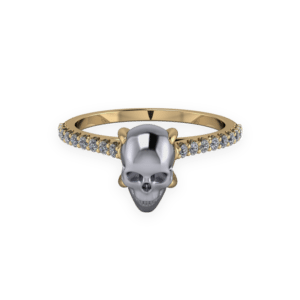 "<a href=""/book-now-bespoke-ring?context=	422-yellow-gold-and-hematite-skull-solitaire	"">	</a>	Yellow gold and hematite skull solitaire"