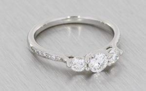Diamond Trilogy Ring with Diamond-Set Shoulders - Portfolio