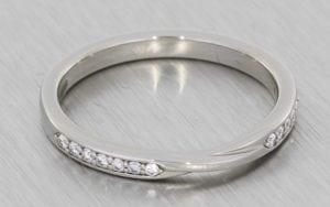 Diamond set twisted wedding band - Portfolio