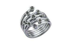 Custom bespoke heritage wrap diamond ring - Portfolio