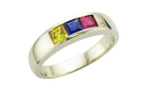 Columbian ruby sapphire and gold male engagement ring - Portfolio