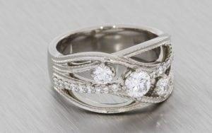 Multistone Engagement Ring  - Portfolio