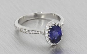 Princess Diana Inspired Sapphire and Diamond Cluster - Portfolio