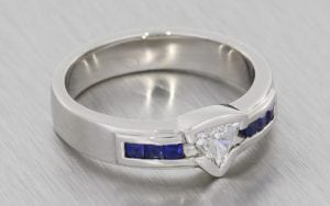 Contemporary Bezel Set Trillion Commitment Ring - Portfolio
