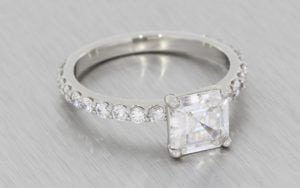 Beautiful Asscher Cut Ring Set - Portfolio