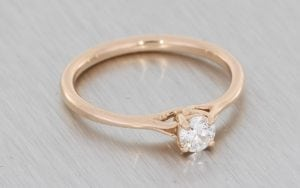 Rose Gold Looped Solitaire - Portfolio