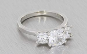 Stunning Three-Stone Diamond Ring - Portfolio