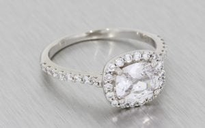 cushion cut diamond halo ring - Portfolio