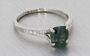 Australian blue sapphire split shank engagement ring – Portfolio