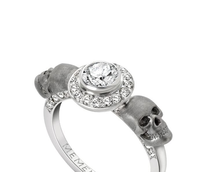 Gothic-inspired engagement rings