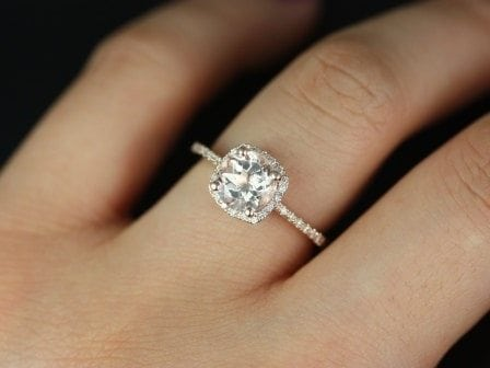 Thin band engagement rings