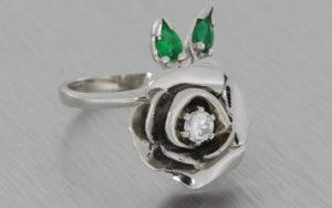 Platinum Shaped Wedding Ring set with Channel Set Diamonds - Portfolio
