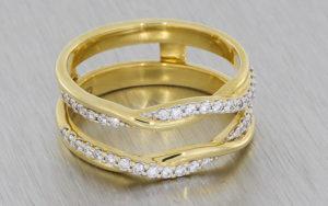 Diamond set ring wrap
